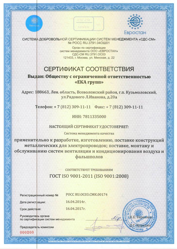 Посмотреть все сертификаты ISO